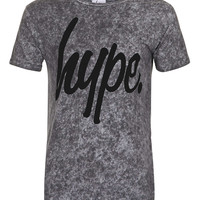 Hype 'Speckle Flock' Grey T-shirt* - Men's T-shirts & Tanks - Clothing - TOPMAN USA