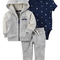 3-Piece Mustache Little Jacket Set
