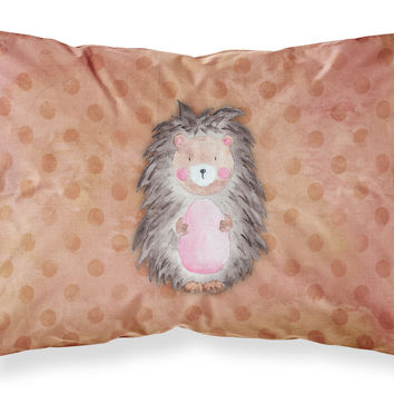 Polkadot Hedgehog Watercolor Fabric Standard Pillowcase BB7378PILLOWCASE
