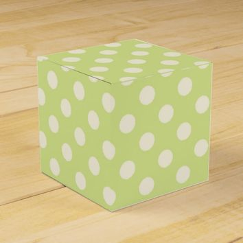 Green Polka Dots Favor Box
