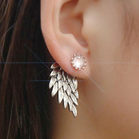 Vintage  Crystal Ear Studs Earrings Fashion Jewelry
