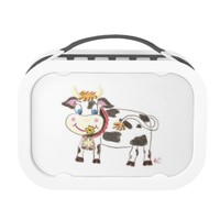 Swiss cow cute kid lunchbox