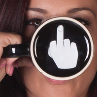 Free Shipping 1Piece Have A Nice Day Mug Up Yours Ceramic Middle Finger Coffee C