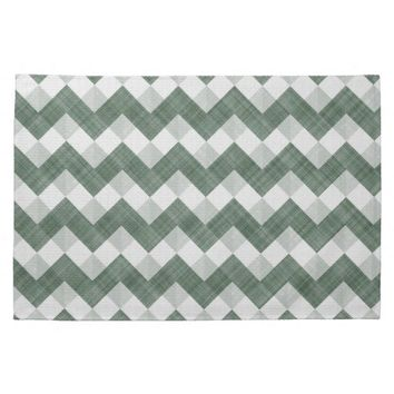 Myrtle And Chartreuse Zigzag Chevron Pattern Hand Towel from Zazzle.com