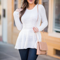 Fabulous Flare Sweater, Ivory