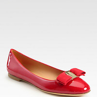 Scott Patent Leather Bow Ballet Flats - Zoom - Saks Fifth Avenue Mobile