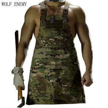 11 Color! Unisex Sleeveless Tactical Vest Apron Pinafore Camouflage Technician Mechanic Apron Tactical Multicam