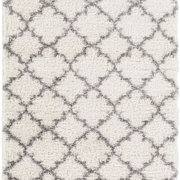 Winfield Shag Area Rug Neutral, Black