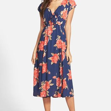Women's June & Hudson Tie Open Front Midi Dress