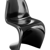 S Dining Chair Black