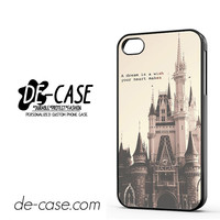 Disney Casttle Quote DEAL-3309 Apple Phonecase Cover For Iphone 4 / Iphone 4S