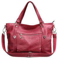 Lixmee Rich Leather Causal Outdoor Women Tote Hand Bag