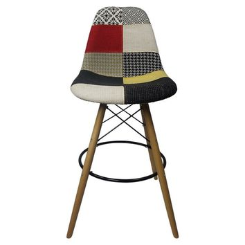 DSW Patchwork F - Bar Eiffel Chair Stool - Reproduction