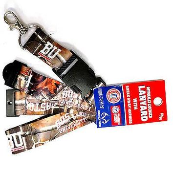 Boston Terriers BU CAMO Deluxe 2-sided Lanyard Breakaway Keychain University