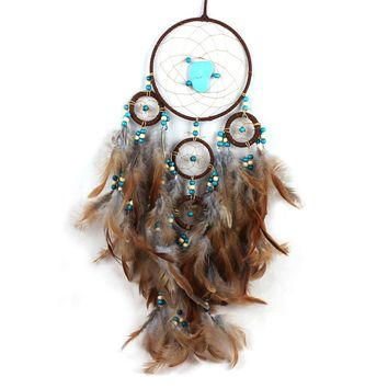 Handmade Antique Enchanted Forest Dreamcatcher Gift Indian Style Dream Catcher Net With Feathers Wall Hanging Decoration