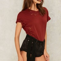 One Teaspoon Bandit Cutoff Shorts - Embroidered