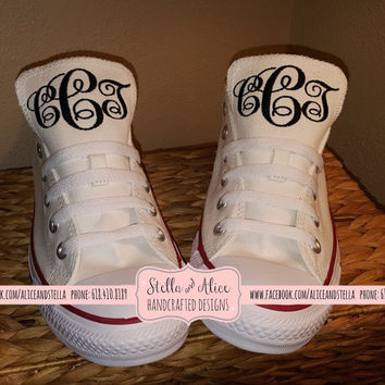 Monogrammed Embroidered Chuck Taylor Converse - Hi-top / Low top