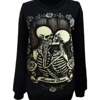 Unisex Gothic Clothing Zombie Princess Little Mermaid Sweatshirts Pullovers Sweater.