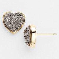 Marcia Moran 'Drusy Extravaganza' Heart Stud Earrings | Nordstrom
