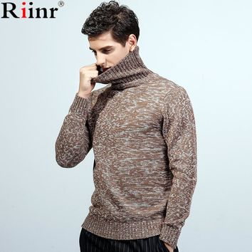 Fashion New Arrival Christmas Sweater High Quality Winter Casual Warm Solid Color Slim Fit Turtleneck Knitted Sweater