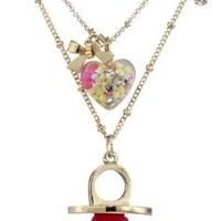 "Betsey Johnson ""Candy Land"" Candy Ring 2-Row Necklace"
