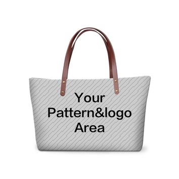 Cute 3D custom Pattern for Women Large Tote Bag Personalized Shoulder Bags for Teen Girls Femal Hand bag organizer
