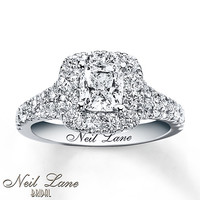 Neil Lane Engagement Ring 2 1/6 ct tw Diamonds 14K White Gold