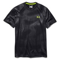 Under Armour Embossed Short Sleeve Tech Tee in Black for Men 1236401-012