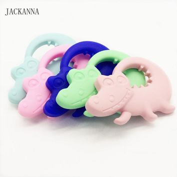 Silicone Crocodile Teethers Infant Training Tooth Teething Pendant Silicone Bitter Toys for Baby BPA FREE Silicone Baby Teethers