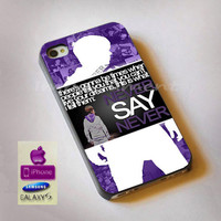 NEVER SAY NEVER,Justin Bieber, iphone case, case, samsung case, Galaxy Case, ipod case, iphone 4, iphone 5, s3, s4, htc case
