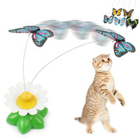 Funny Butterfly Cat Kitten Playing Toy
