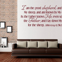 Vinyl Bible Verse. The Good Shepherd NKJV- CODE 108