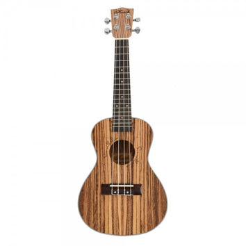 "23"" Exquisite Zebra Wood Concert Ukulele Wood Color"