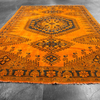 10x13 Over-Dyed Burnt Orange Imported Persian Vintage Rug woh-2638 - West Of Hudson - Unique Rug Collection