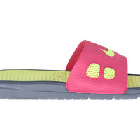 Nike Benassi Solarsoft Slide Vivid Pink/Night Fall/Volt Ice - Zappos.com Free Shipping BOTH Ways