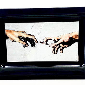 Colorful Metal Rolling Tray - Michelangelo
