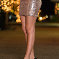 Star Of The Show Skirt, Gold