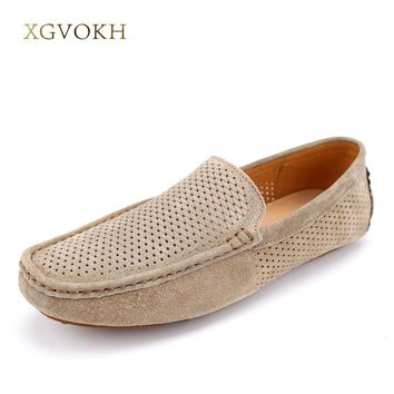 New Handmade Genuine Leather Men Loafers Fashion Men Driving Shoes Casual Top Quality Men Flats Moccasins Zapatos Hombre
