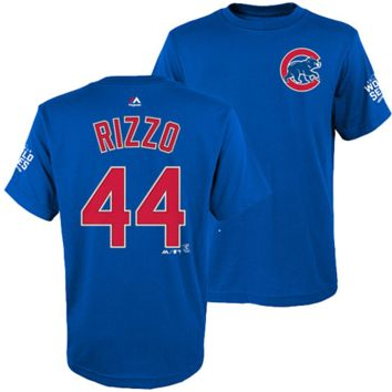 Chicago Cubs Youth Anthony Rizzo 2016 World Series Name and Number T-Shirt