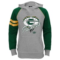 Green Bay Packers Diamond Etched Hoodie - Girls 7-16, Size:
