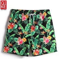 Men Quick Dry  Floral Swimming Trunks