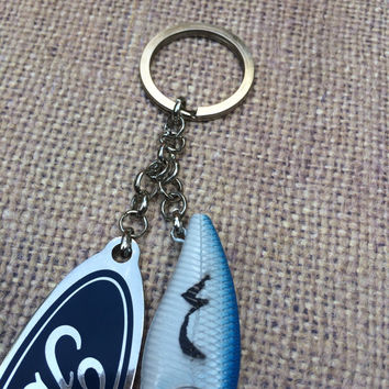 Ford and Fishing Lure Combo Keychain