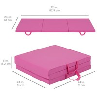 Best Choice Products 6' Exercise Tri-Fold Gym Mat For Gymnastics, Aerobics, Yoga, Martial Arts - Pink - Walmart.com