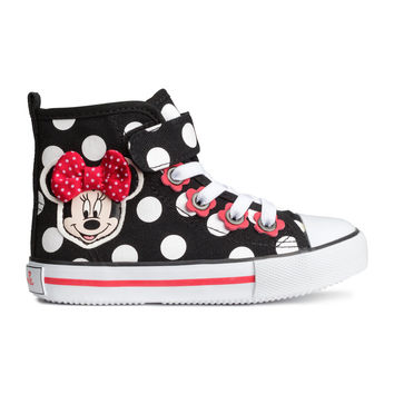 H&M - Patterned High Tops - Black/Minnie Mouse - Kids