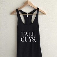 Tall Guys Typography Women's Racerback Tank Top
