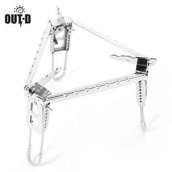 ONETOW OUT - D Outdoor Cooking Camping Portable Folding Stove Pot Stand Stainless Steel Triangle Bracket Foldable Outdoor Stove Stand