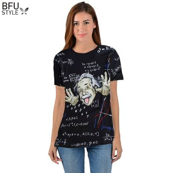 Math Science T-shirt For Boy/girl Graphic 3d T Shirt Men/women Funny Print Einstein T-shirt Casual Tops Large Size Shirt Mens