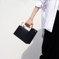 Elegant Box Shaped Black Bag