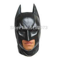 High Quality Black Batman Latex Full Face Mask Adult Superhero Bruce Wayne Masquerade Party Props Costume Cosplay Rubber Masks