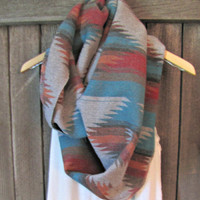 FREE SHIPPING- LIMITED supply, Southwestern, Hipster Cowlneck Aztec Inspired Geometric Print Scarf (women, teen girls)